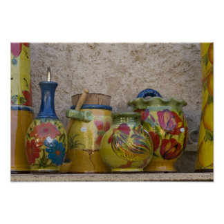 Pottery, Moustiers-Sainte-Marie, Provence, Poster