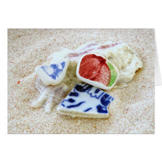 Pottery Sea Glass Card