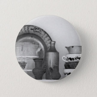 Pottery still life 2 inch round button