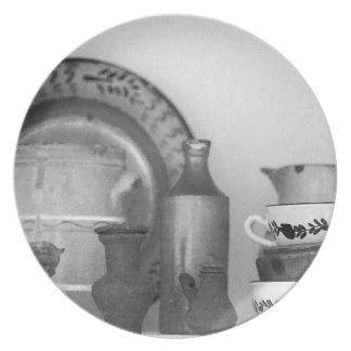 Pottery still life plate