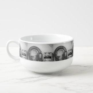 Pottery still life soup mug