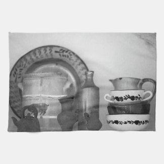 Pottery still life towel