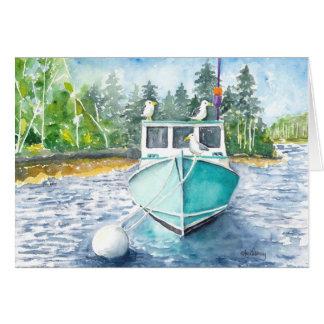 Potts Harbor Hangout, Maine Card