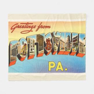 Pottsville Pennsylvania PA Vintage Travel Souvenir Fleece Blanket