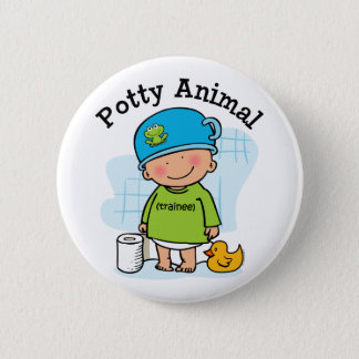 Potty Animal Boy Button