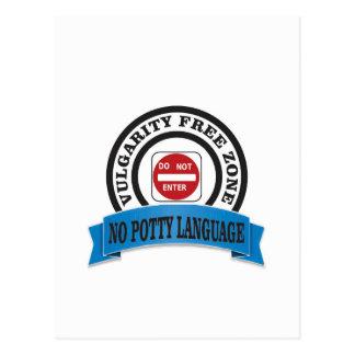 potty language do not enter postcard