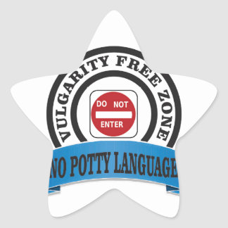 potty language do not enter star sticker