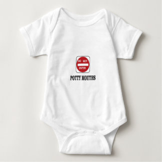 potty mouths do not enter baby bodysuit