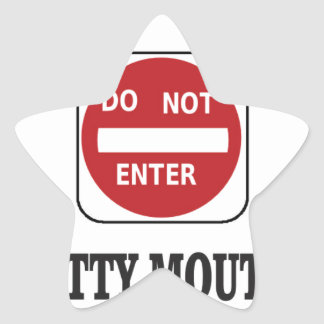 potty mouths do not enter star sticker
