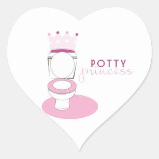 Potty Princess Heart Sticker