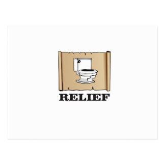 potty relief fun postcard