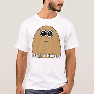 Pou Hungry w/ Text T-Shirt