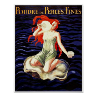 Poudre de Pearls Soap Vintage French Poster