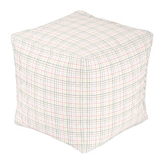 Pouf - Cube - Plaid for Chinook Salmon