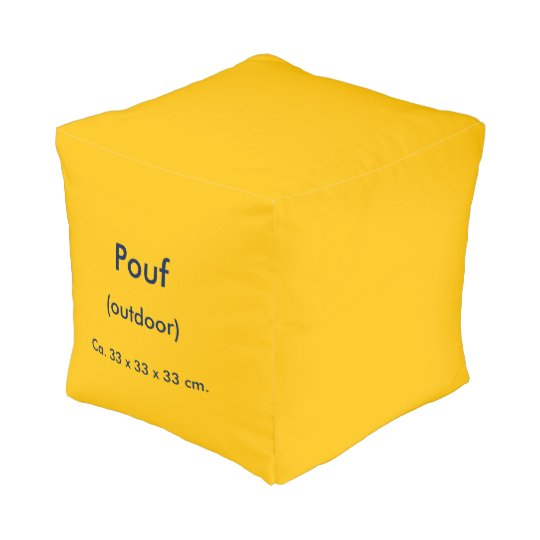 Pouf Small Outdoor uni Yellow