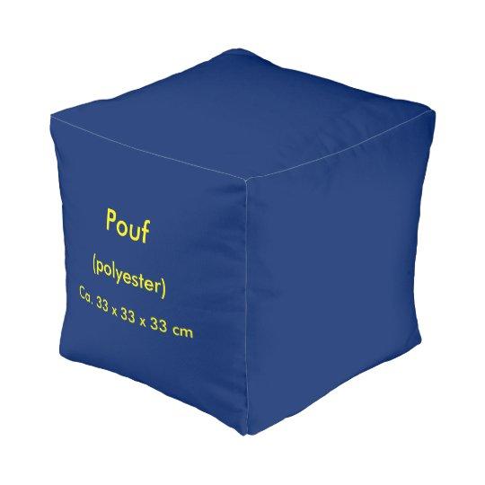 Pouf Small Polyester uni Blue