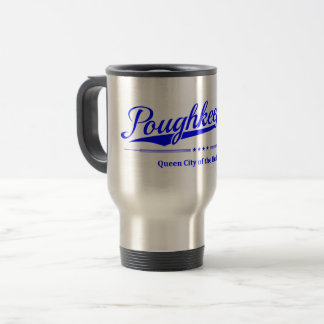 Poughkeepsie - Queen City of the Hudson - Blue Travel Mug