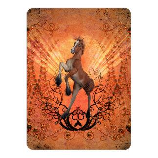 Poulain merveilleux et mignon carton d'invitation  13,97 cm x 19,05 cm