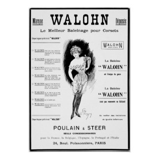 Poulain & Steer corset ad Poster