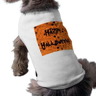 Poule mouillée orange métallique brillante de diam tee-shirts pour chien