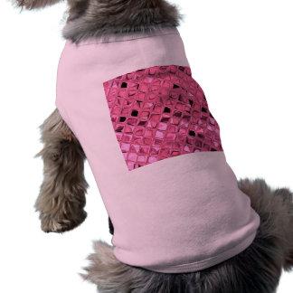 Poule mouillée rose Girly métallique brillante de  Tee-shirts Pour Animaux Domestiques