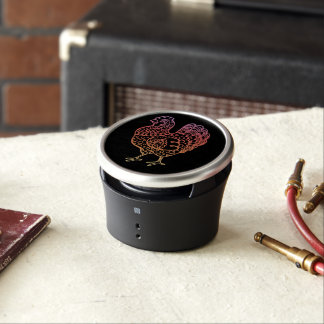 Poulet fleuri Lineart Haut-parleur Bluetooth