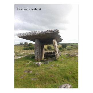 Poulnabrone Portal Tomb, Burren, Clare, Ireland Postcard