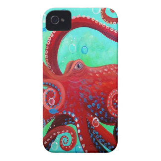 Poulpe rouge coques Case-Mate iPhone 4