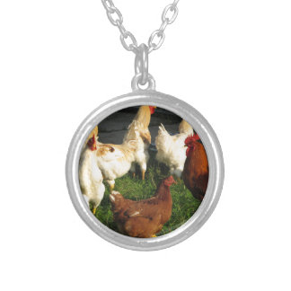 Poultry Silver Plated Necklace
