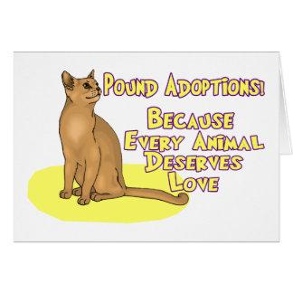 Pound Adoptions Card
