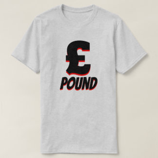 £ pound sterling, Grey T-Shirt