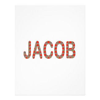 Pour JACOB Name  artist NavinJOSHI artistique GIFT Customized Letterhead