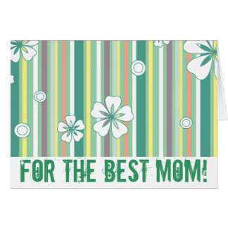 Pour la meilleure maman ! carte de vœux