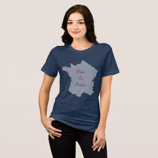 Pour Le France, Pour Le Frexit ladies t-shirt navy