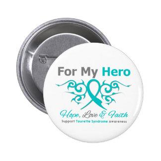Pour mon héros - foi d'amour d'espoir - syndrome macaron rond 5 cm