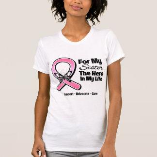 Pour mon héros mon cancer du sein de soeur t-shirt