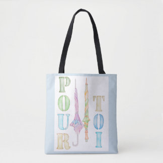 Pour Toi tote bag - in light blue