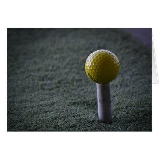 Pour votre golfeur préféré carte de vœux