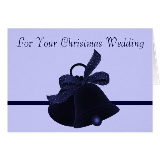 """""""Pour votre mariage de Noël """" Carte De Vœux"""