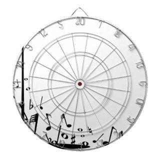 Pouring Musical Notes Dartboard
