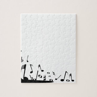 Pouring Musical Notes Jigsaw Puzzle