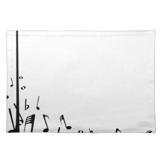 Pouring Musical Notes Placemat