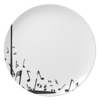 Pouring Musical Notes Plate