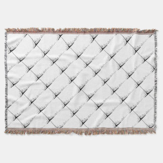 Pouring Musical Notes Throw Blanket