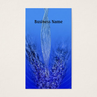 Pouring water business card