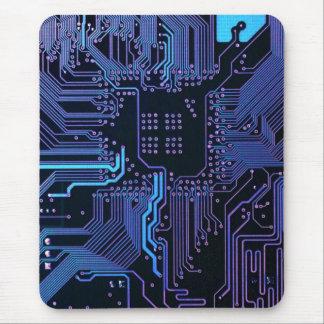 Pourpre bleu d'ordinateur de bord frais de circuit tapis de souris
