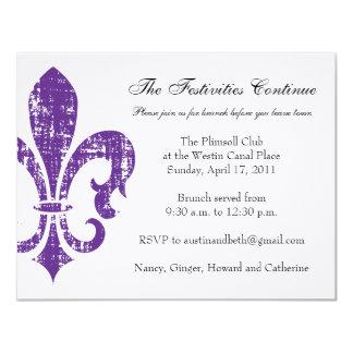 Pourpre de la carte | la Nouvelle-Orléans | de Carton D'invitation 10,79 Cm X 13,97 Cm