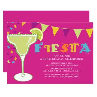 Pourpre de la fiesta   carton d'invitation  12,7 cm x 17,78 cm