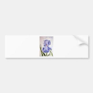 Pourpre de peinture d'aquarelle d'iris - bleu autocollant de voiture