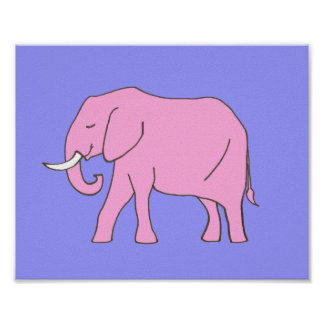 Pourpre de rose d'art de crèche d'éléphant de bébé poster